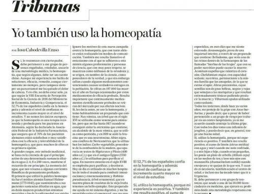 """""""Yo también uso la homeopatía."""""""