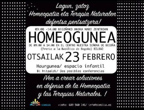 Homeogunea. Encuentro sobre homeopatía. Homeopatiari buruzko topagunea.