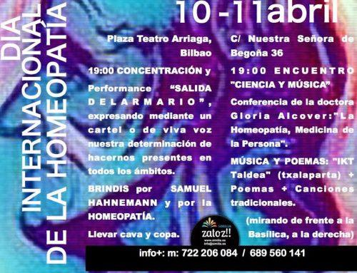 Actividades de Similia para el 10 abril, día internacional de la homeopatía.