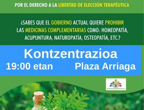 Día del respeto al paciente 25/1/2020. Concentración en Bilbao.