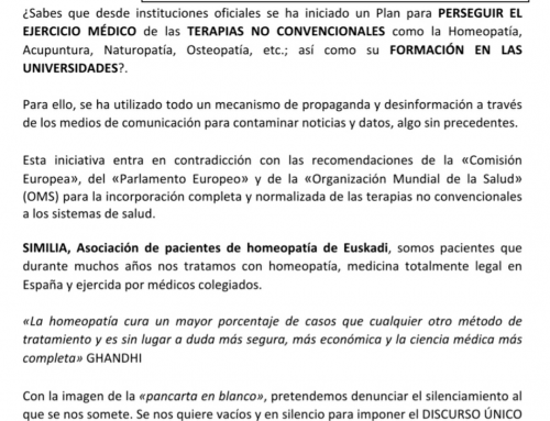 Día del respeto al paciente 25/1/2020  Bilbao